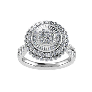 Composite Halo Ring with 1.25ct of Diamonds in 9ct White Gold