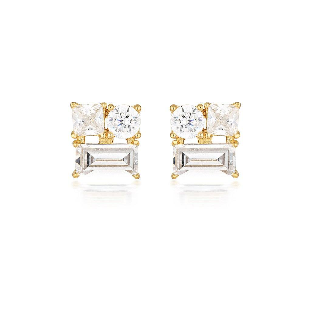 THEA GOLD STUD EARRING Bevilles Jewellers