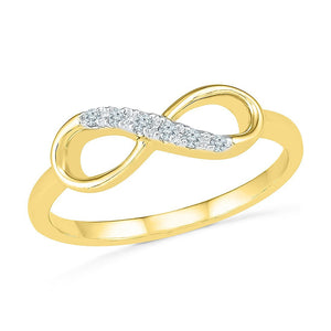 Diamond Infinity Stackable Ring in 9ct Yellow Gold