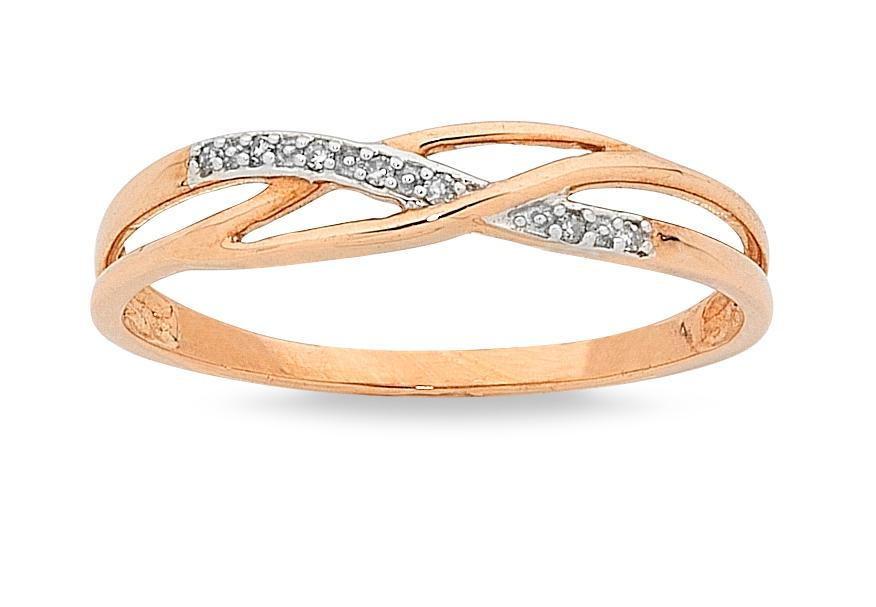 9ct Rose Diamond Stackable Ring Rings Bevilles