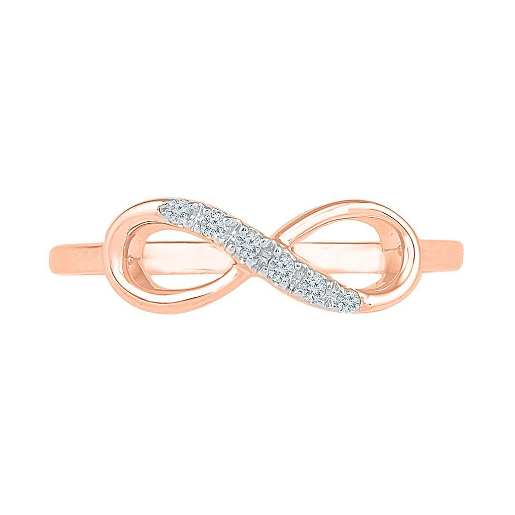 9ct Rose Gold Stackable Infinity Ring Rings Bevilles