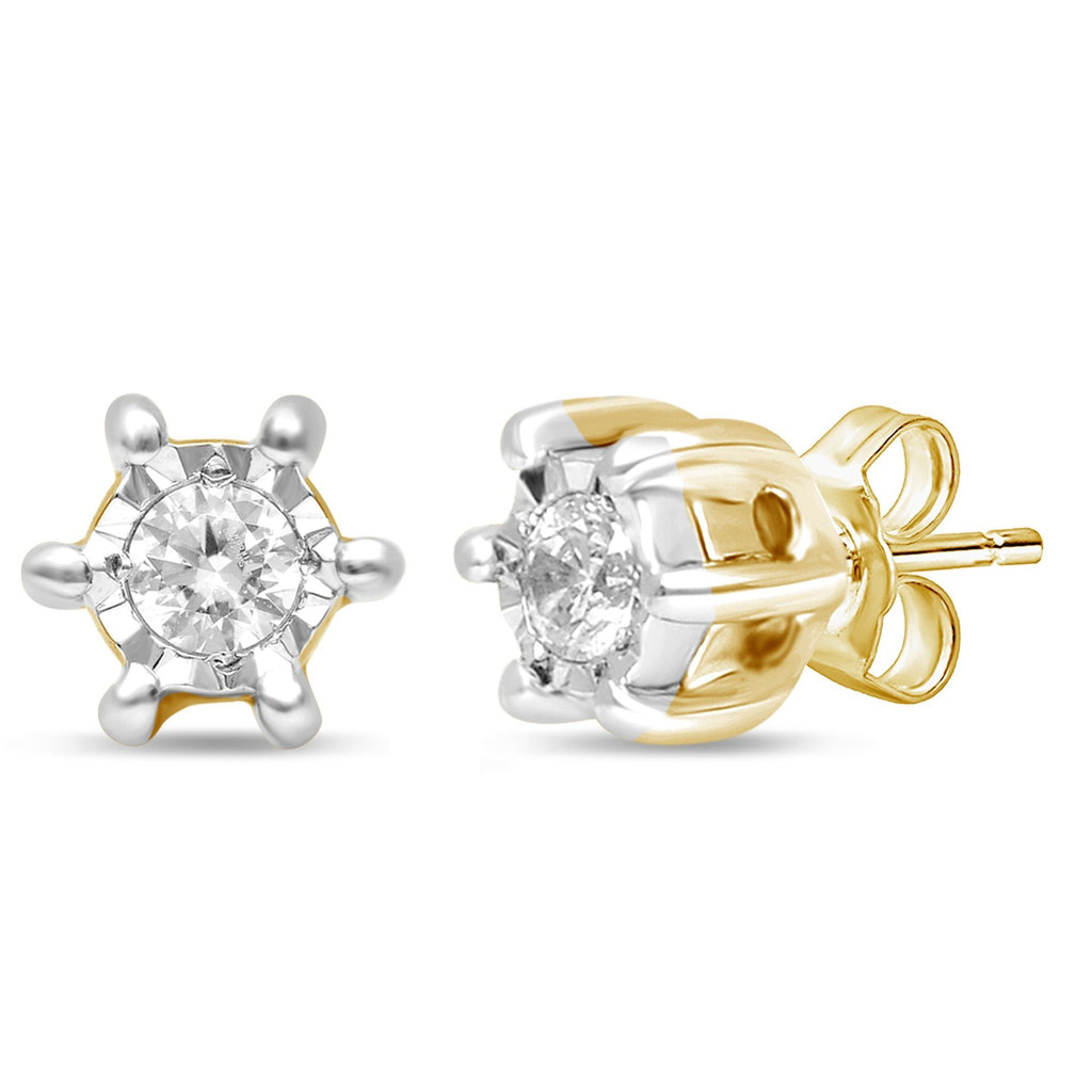 Diamond Set Miracle Star Earrings in 10ct Yellow Gold Earrings Bevilles