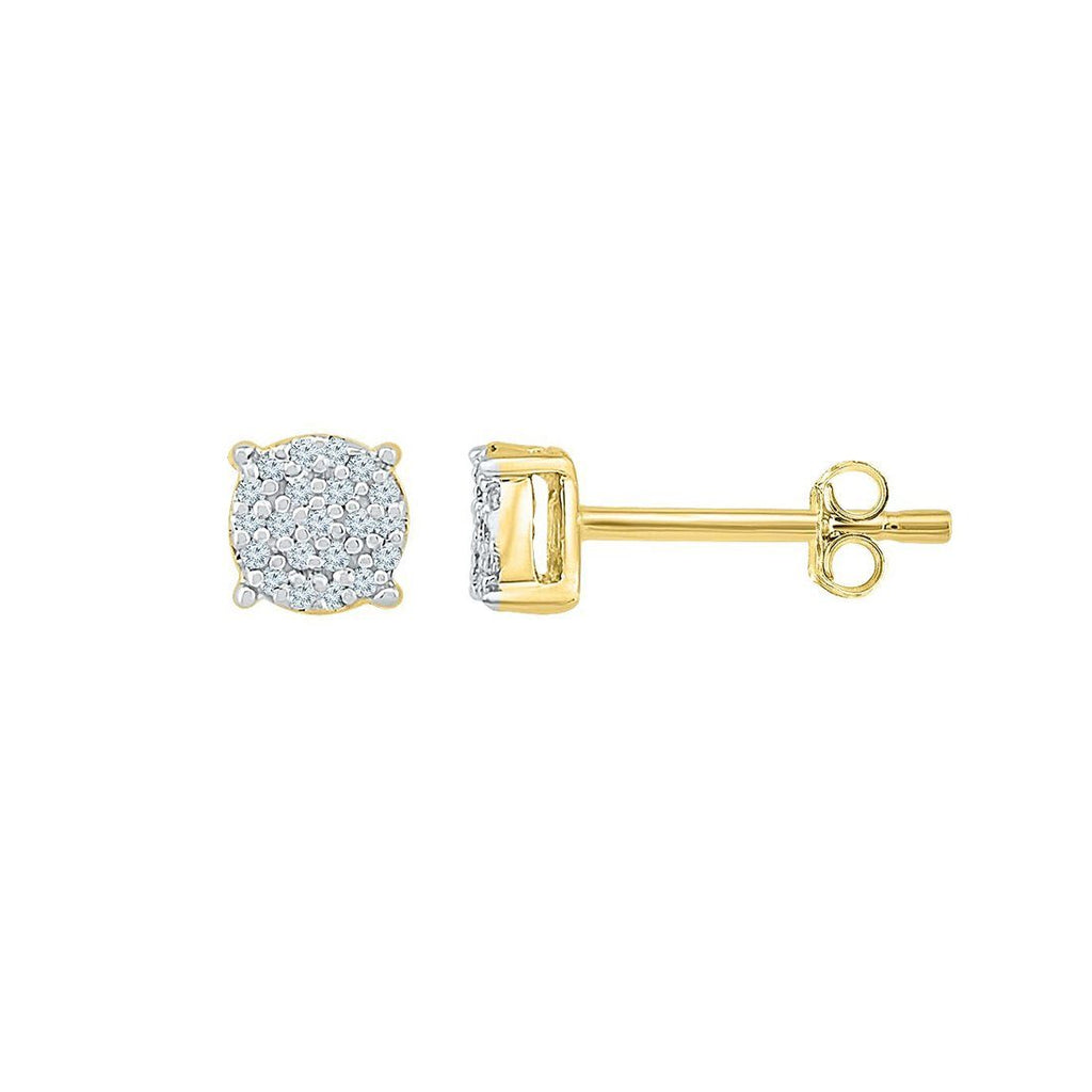 9ct Yellow Gold 0.05ct Composite Stud Earrings Earrings Bevilles