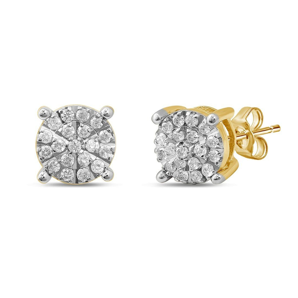 Martina Earrings with 1/4ct of Diamonds in 9ct Yellow Gold Earrings Bevilles