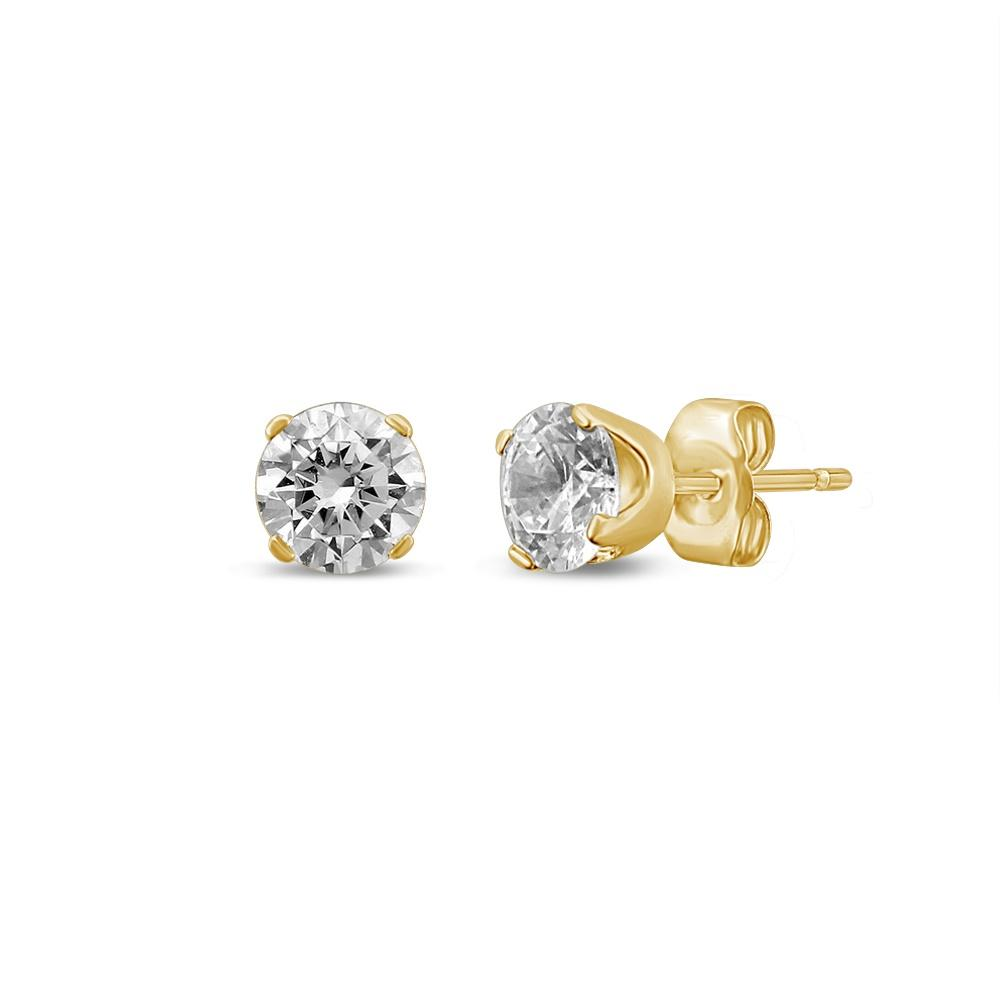 1.40ct Diamond Soliatire Stud Earrings in 18ct Yellow Gold Earrings Bevilles