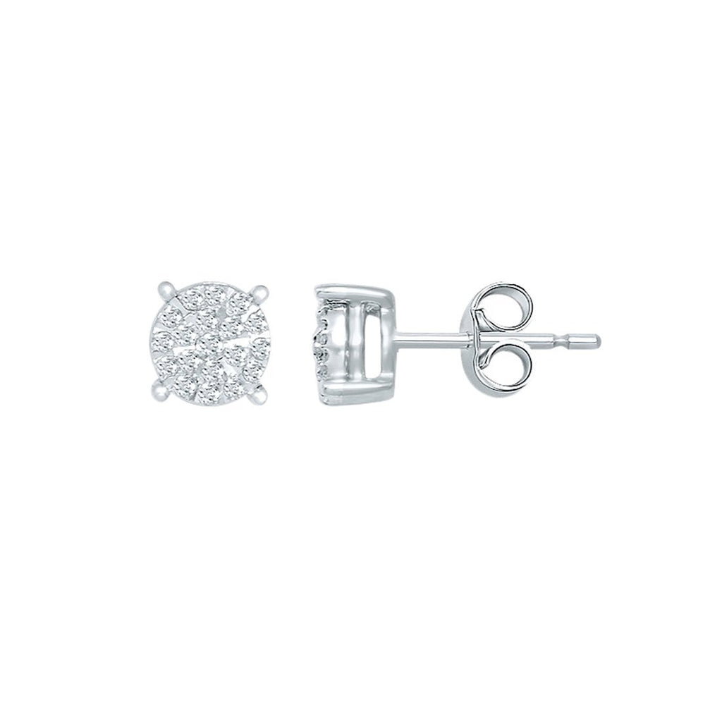 Martina Diamond Earrings with 0.15ct of Diamonds in 9ct White Gold Earrings Bevilles