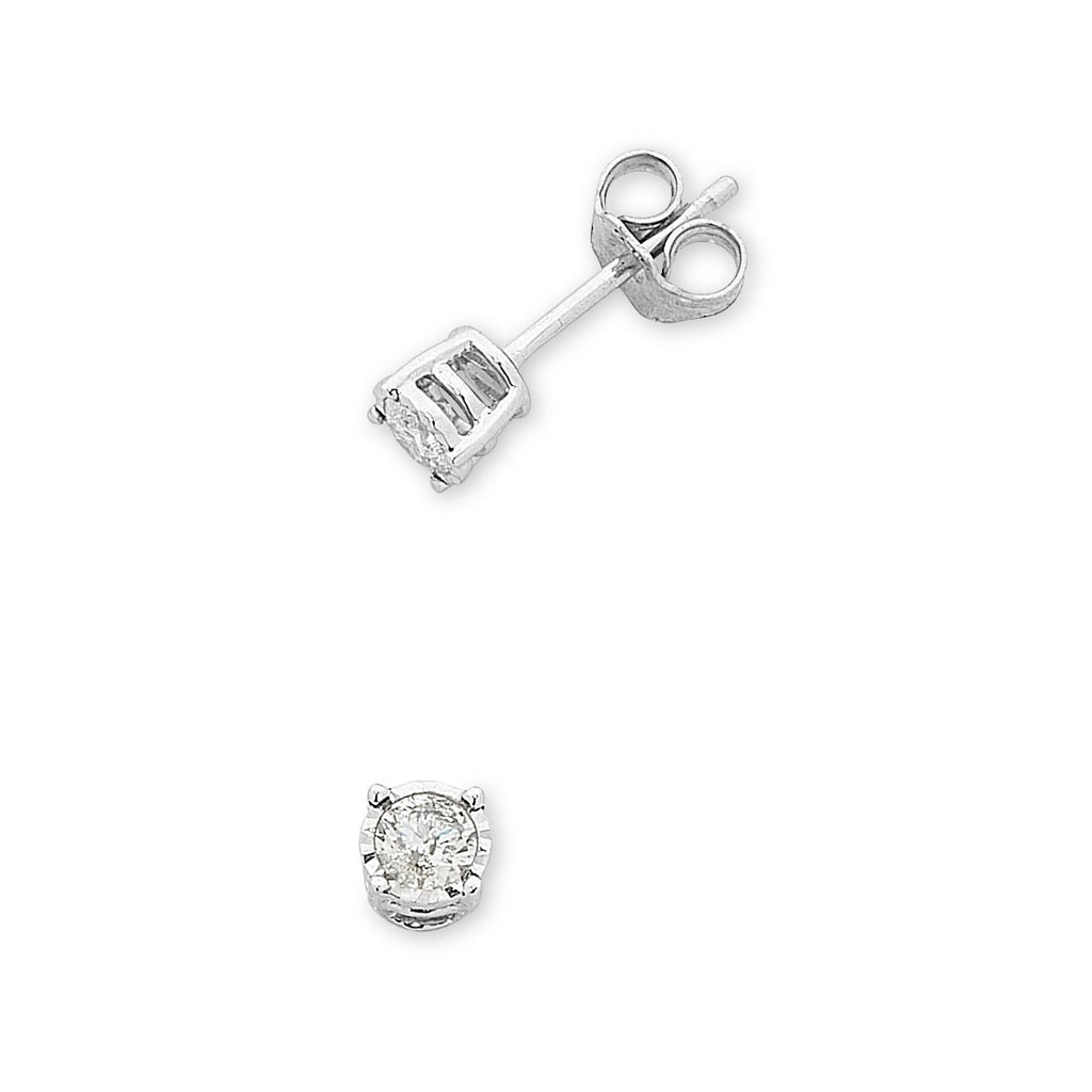 9ct White Gold 0.20ct Diamond Stud Earrings