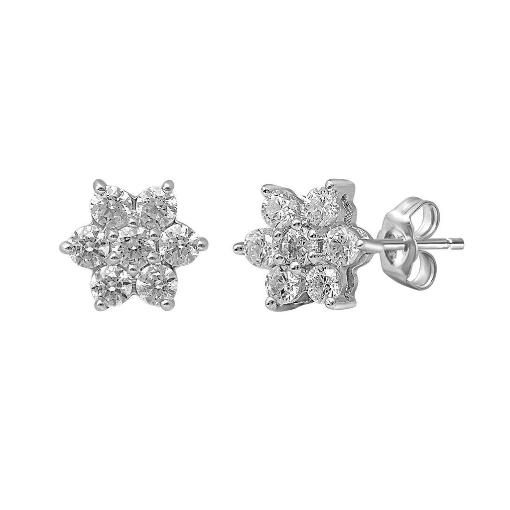 Star Stud Earrings with 1/4ct of Diamonds in 9ct White Gold