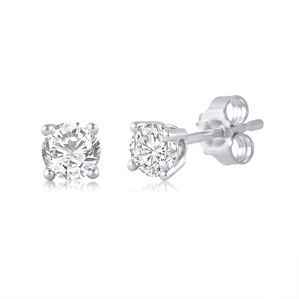 Brilliant Stud Earrings with 1/2ct of Diamonds in 9ct White Gold