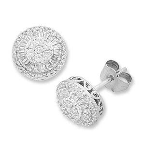 9ct White Gold 1/2ct Diamond Earrings
