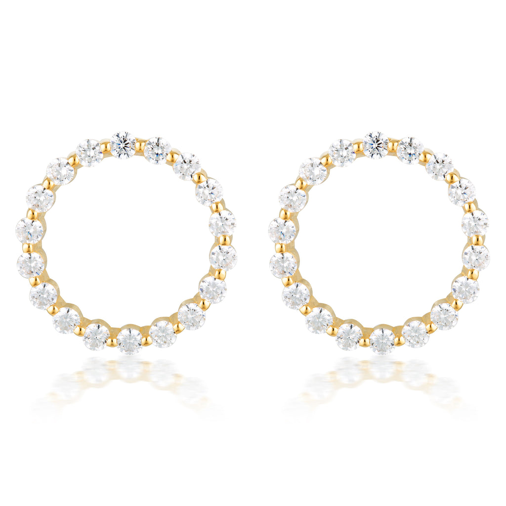 Large Circle Of Life Earring - Gold Bevilles Jewellers