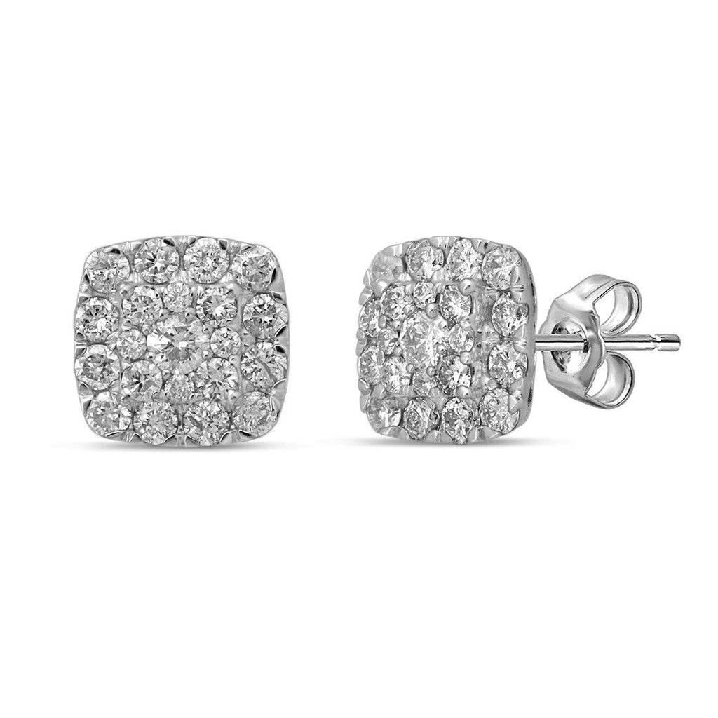 9ct White Gold 1.00ct Diamond Earrings Earrings Bevilles