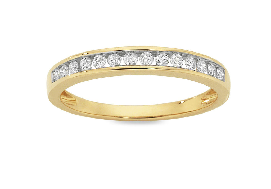 Eternity Ring with 1/4ct of Diamonds in 9ct Yellow Gold Rings Bevilles
