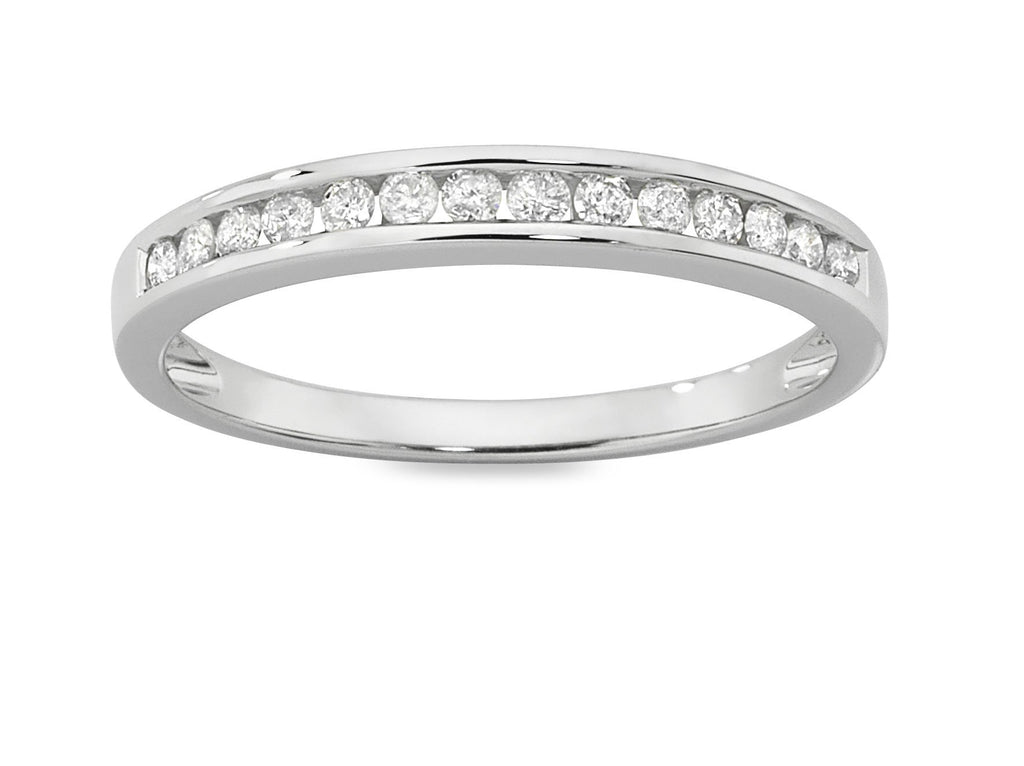 Eternity Ring with 1/4ct of Diamonds in 9ct White Gold Rings Bevilles