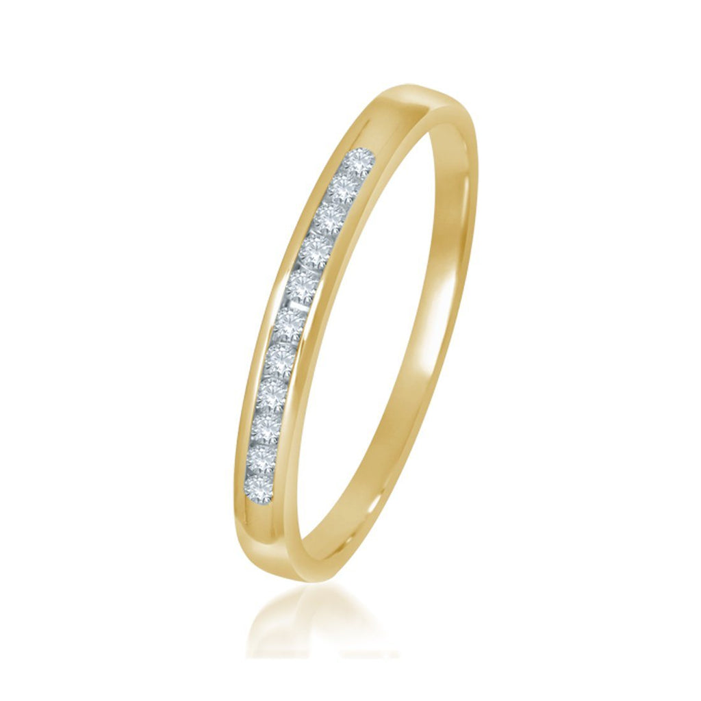9ct Yellow Gold Diamond Channel Set Ring Rings Bevilles