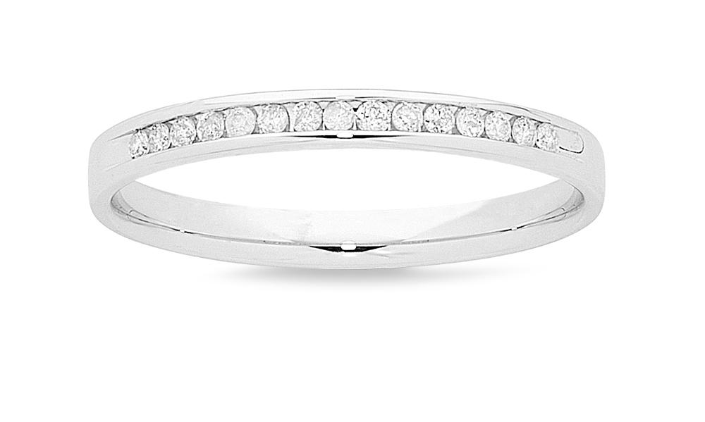 18ct White Gold 16pts Diamond Ring