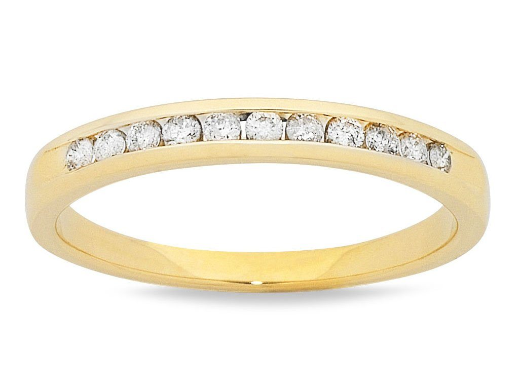 18ct Yellow Gold Diamond Channel Set Ring