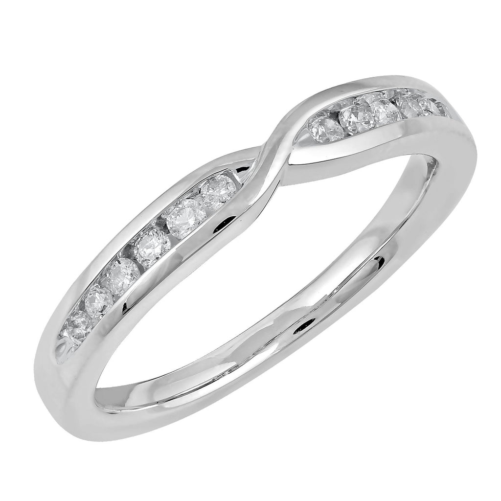Facets of Love 18ct White Gold Diamond Tia Brilliant Love Wedding Ring
