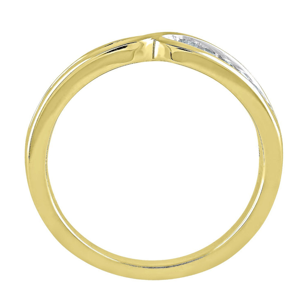 Facets of Love Tia Brilliant Love 18ct Yellow Gold Wedding Ring with 0.20ct of Diamonds Rings Bevilles
