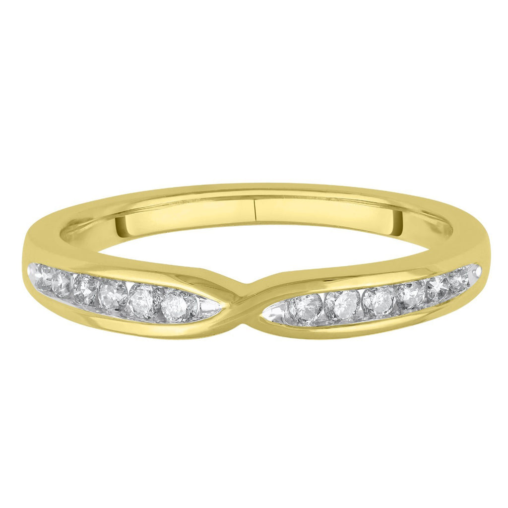 Facets of Love Tia Brilliant Love 18ct Yellow Gold Wedding Ring with 0.20ct of Diamonds