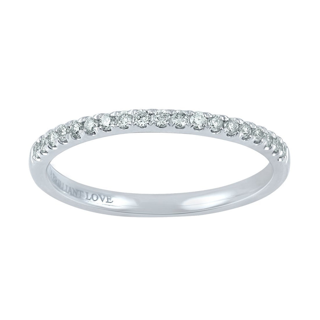 Facets of Love 18ct White Gold Tia Brilliant Love 0.18ct Diamond Eternity Ring