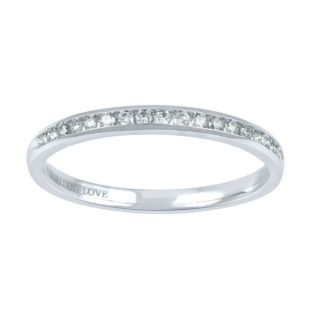 18ct White Gold Tia Brilliant Love 0.18ct Diamond Eternity Ring Rings Bevilles