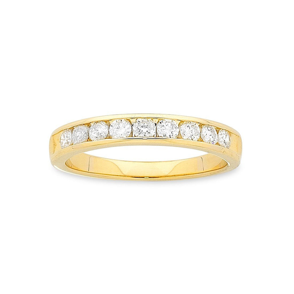 9ct Yellow Gold Diamond Ring 0.50ct Rings Bevilles