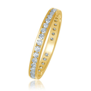 18ct Yellow Gold 0.50ct Diamond Circle of Love Eternity Ring