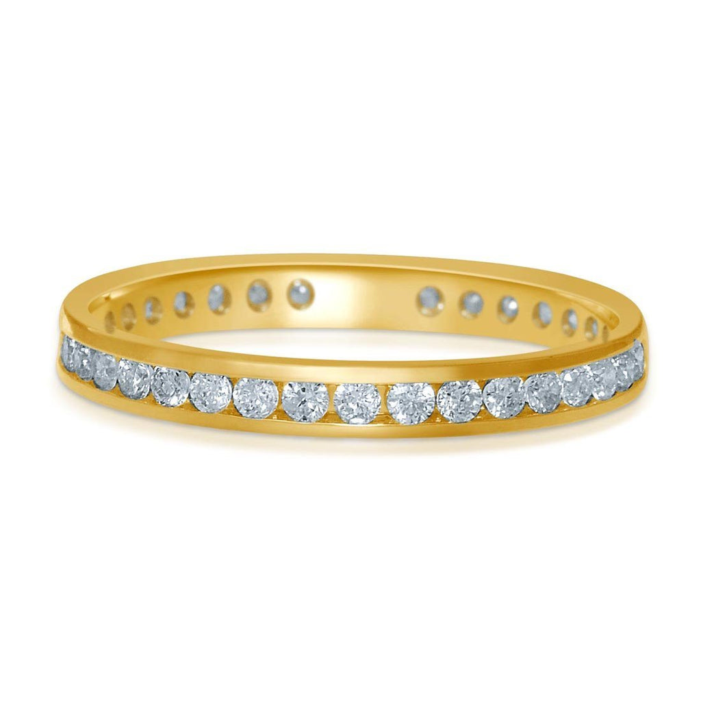 18ct Yellow Gold 0.50ct Diamond Circle of Love Ring Rings Bevilles