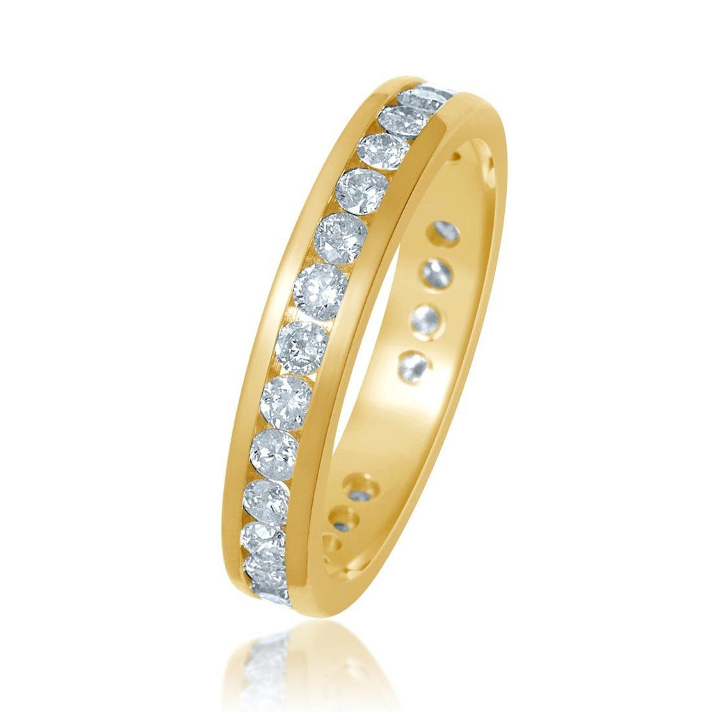 18ct Yellow Gold 1.00ct Diamond Circle of Love Ring