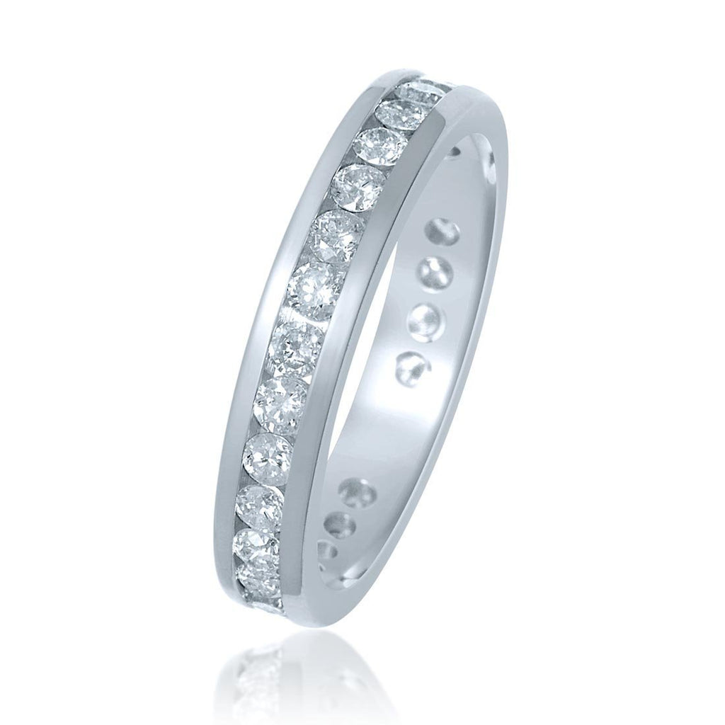 18ct White Gold 1.00ct Diamond Circle of Love Ring