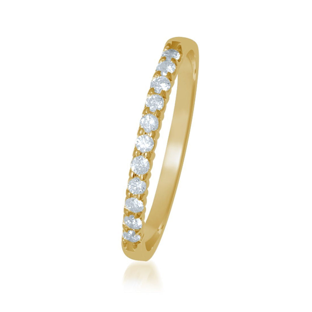 9ct Yellow Gold Diamond Eternity Ring Rings Bevilles