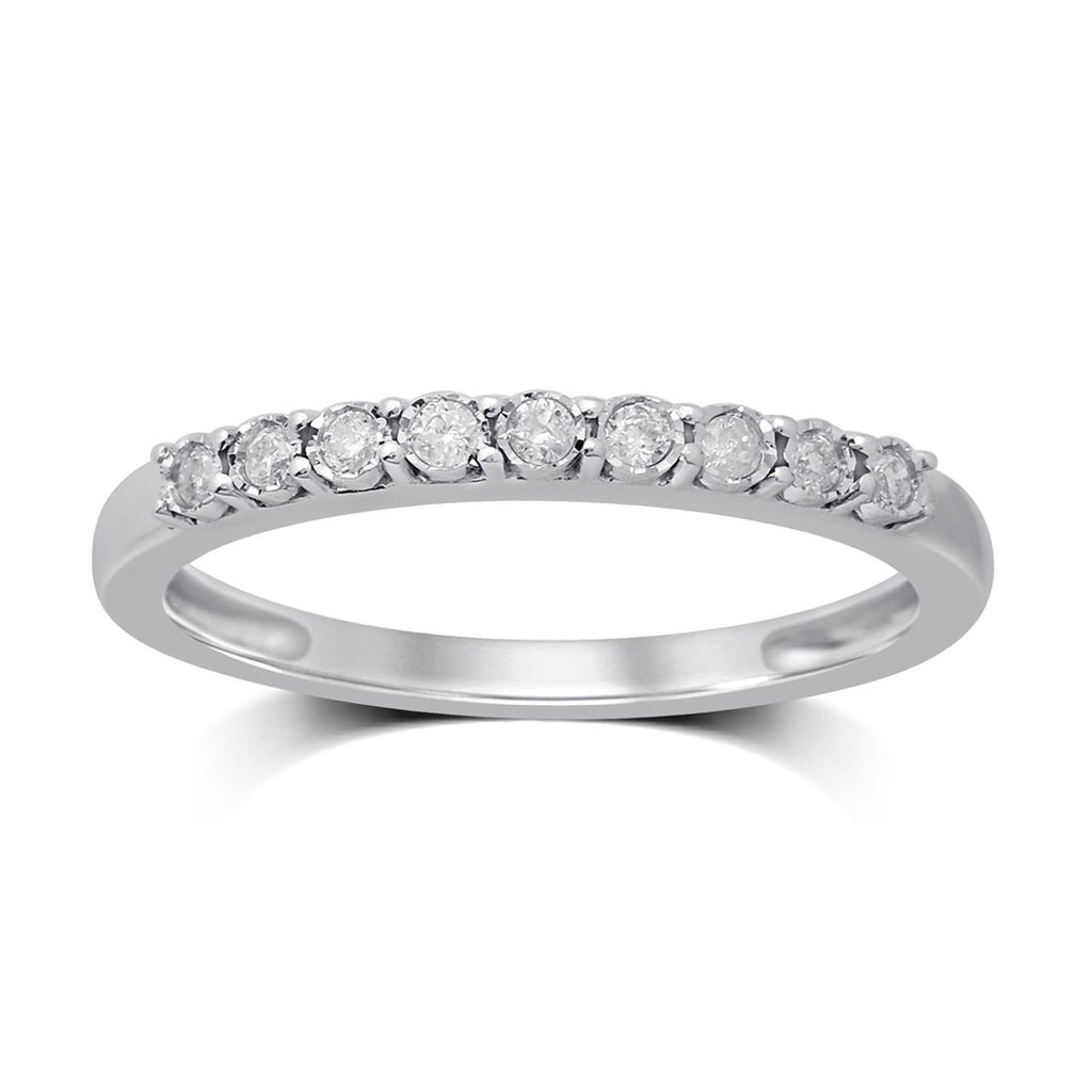 9ct White Gold 0.12ct Diamond Eternity Ring