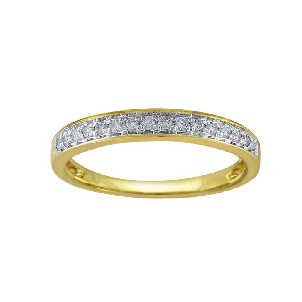 Eternity Ring with 0.15ct of Diamonds in 9ct Yellow Gold Rings Bevilles