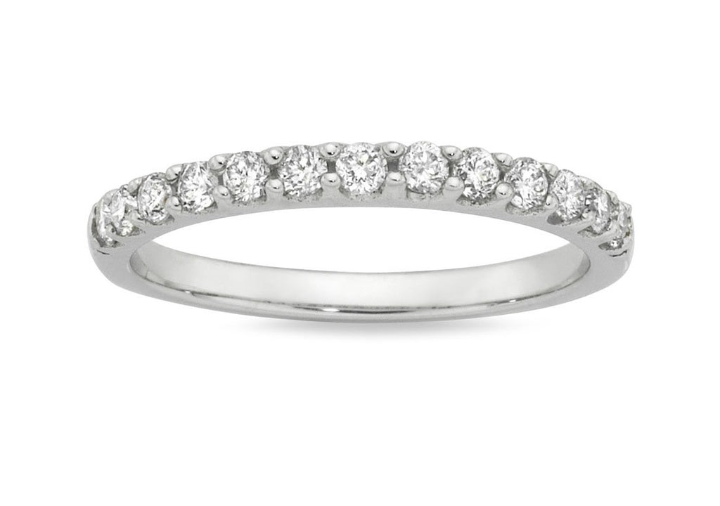 Eternity Ring with 0.40ct of Diamonds in 18ct White Gold Rings Bevilles