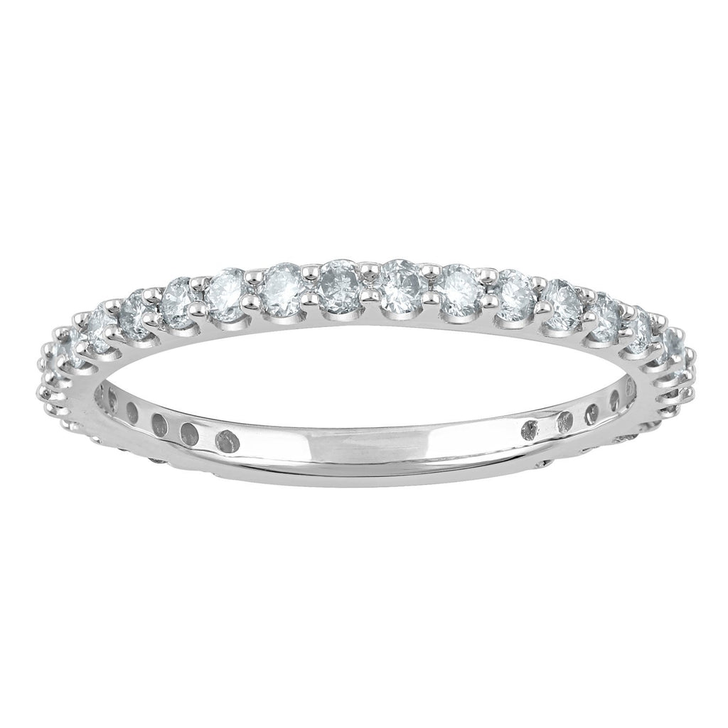 18ct White Gold 0.50ct Diamond Circle of Love Eternity Ring