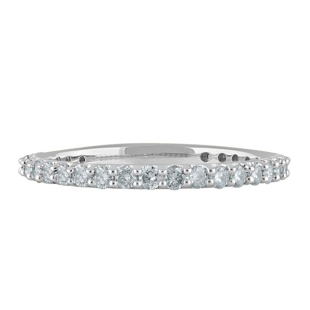 18ct White Gold 0.50ct Diamond Circle of Love Eternity Ring Rings Bevilles