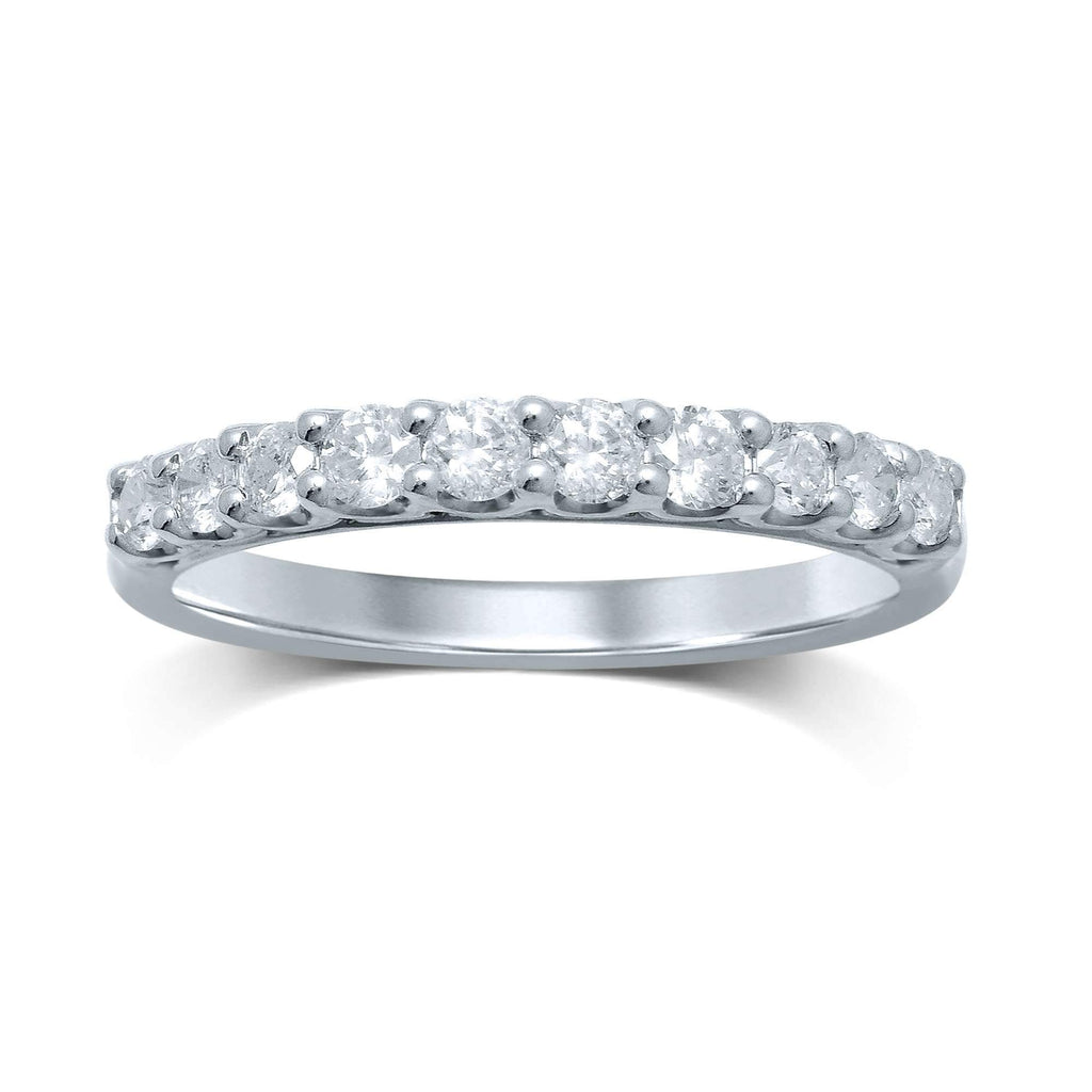 9ct White Gold 0.50ct Diamond Eternity Ring