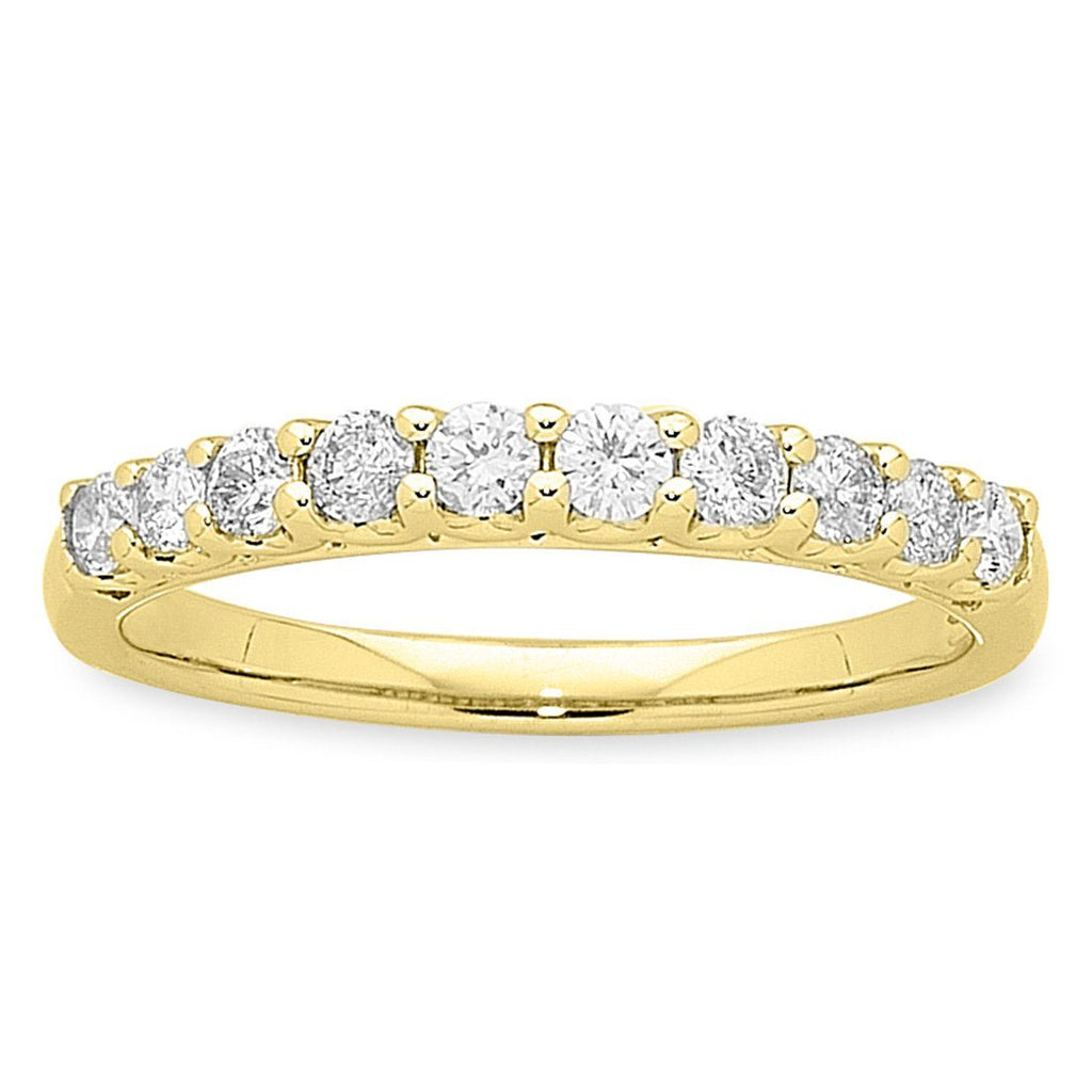 9ct Yellow Gold 0.50ct Diamond Eternity Ring Rings Bevilles