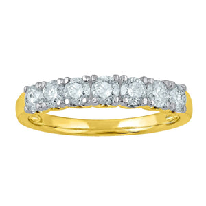 18ct Yellow Gold Eternity Ring with 0.80ct of Diamonds