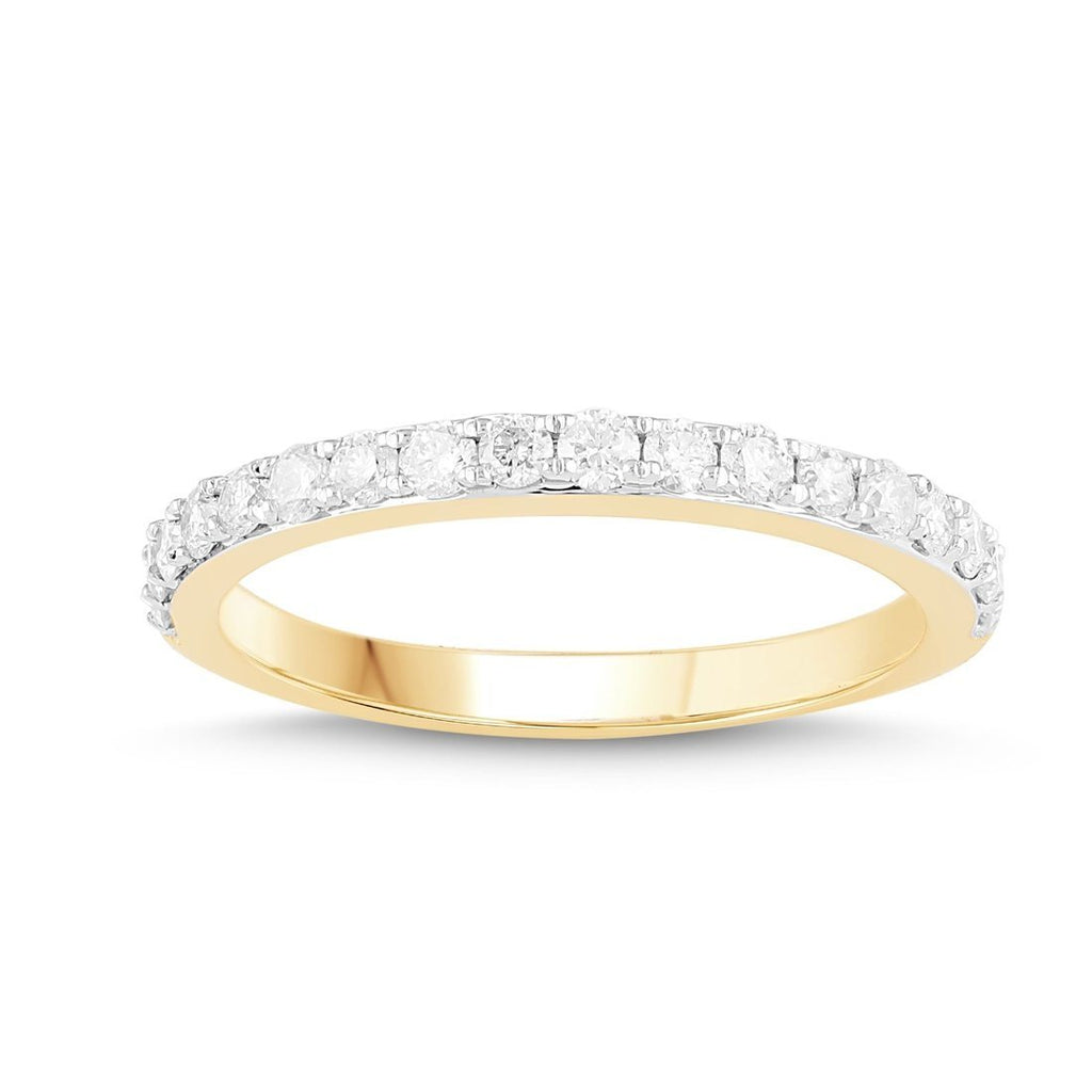 9ct Yellow Gold Eternity Ring with 0.33ct of Diamonds