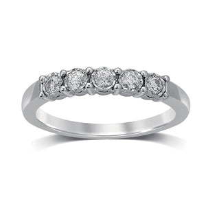 18ct White Gold 0.25ct Miracle Set Diamond Eternity Ring