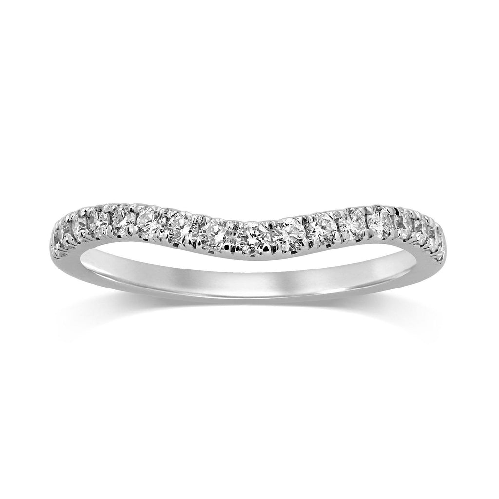 Curved Eternity Ring with 1/3ct of Diamonds in 18ct White Gold Rings Bevilles