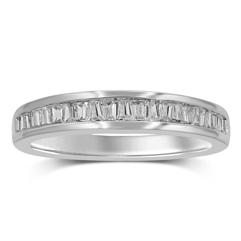 Baguette Channel Eternity Ring with 1/4ct of Diamonds in 18ct White Gold Rings Bevilles
