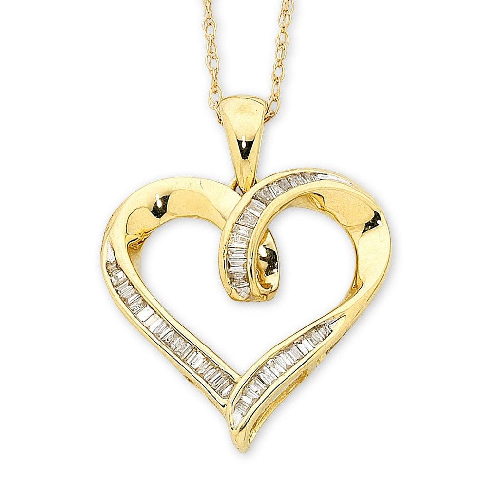 9ct Yellow Gold Diamond Pendant 0.20ct
