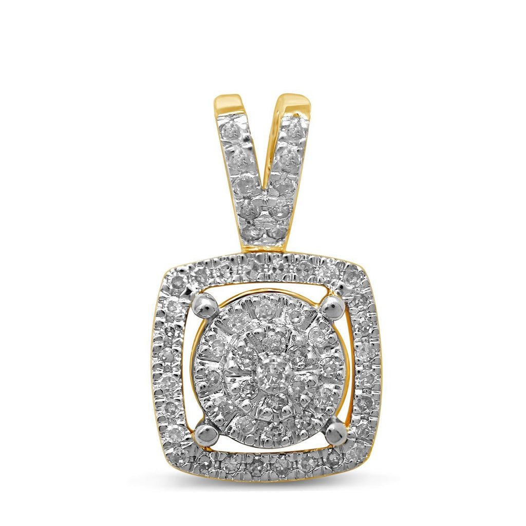 9ct Yellow Gold 0.25ct Diamond Pendant