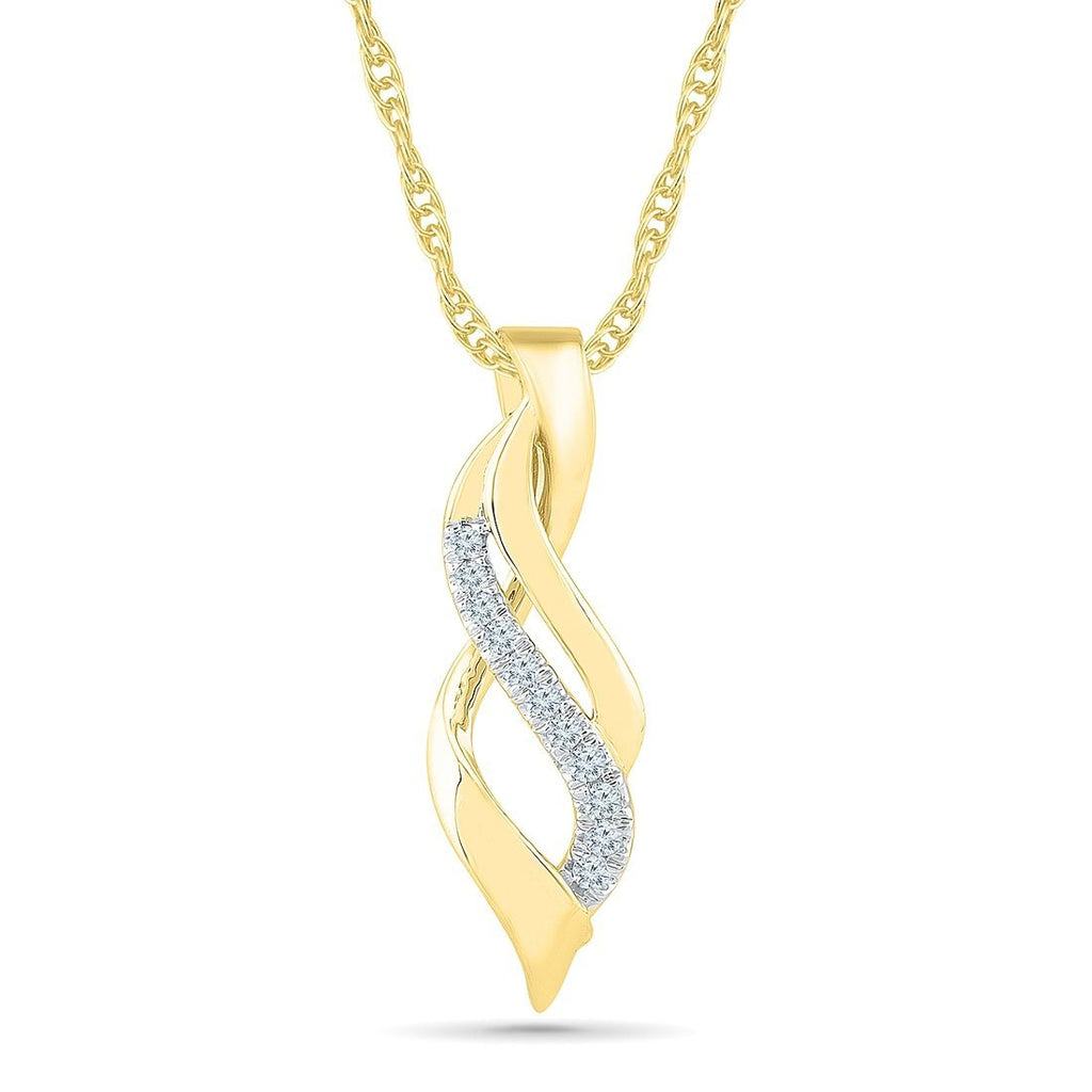 9ct Yellow Gold 0.12ct Diamond Pendant