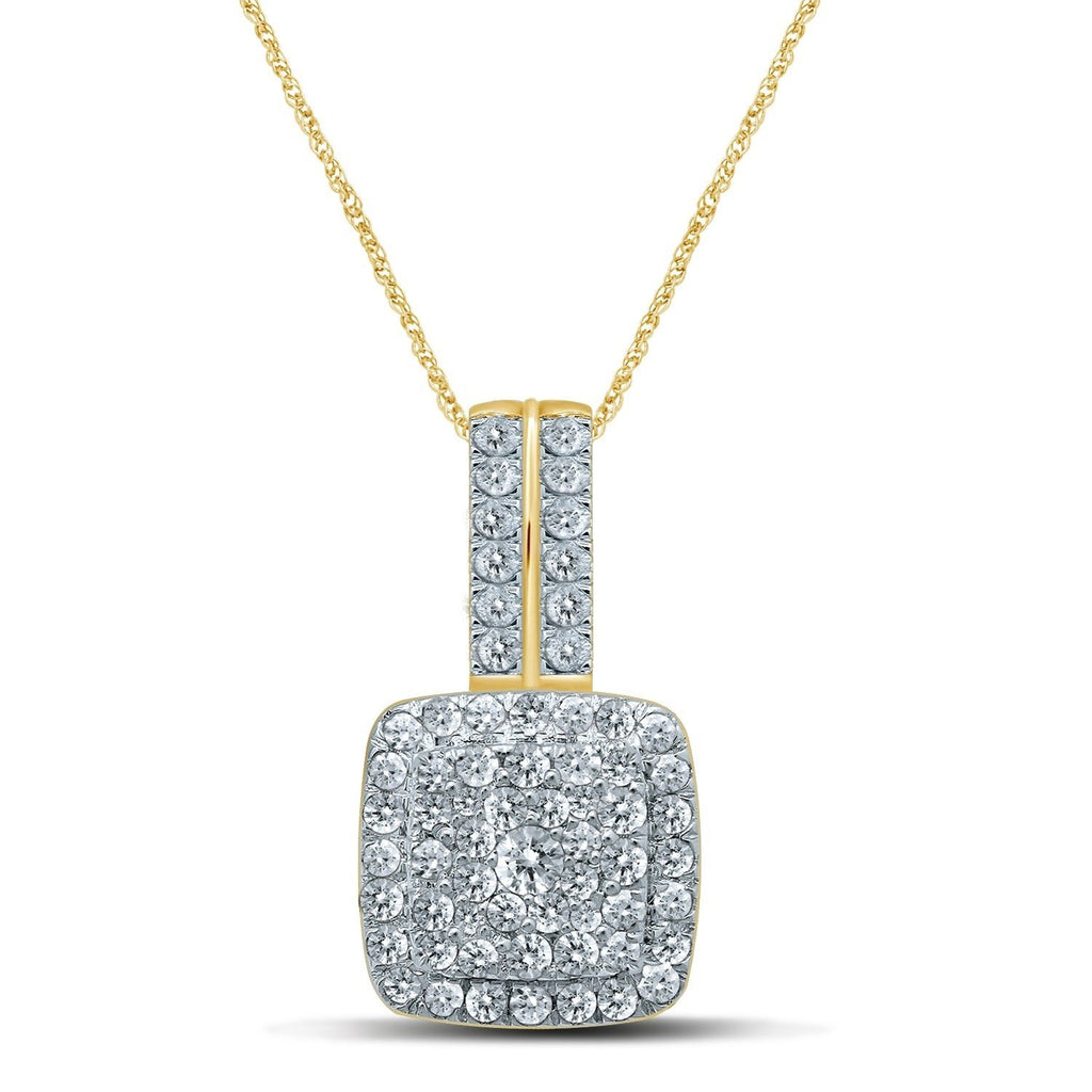 Brilliant Set Necklace with 1/2ct of Diamonds in 9ct Yellow Gold Necklaces Bevilles