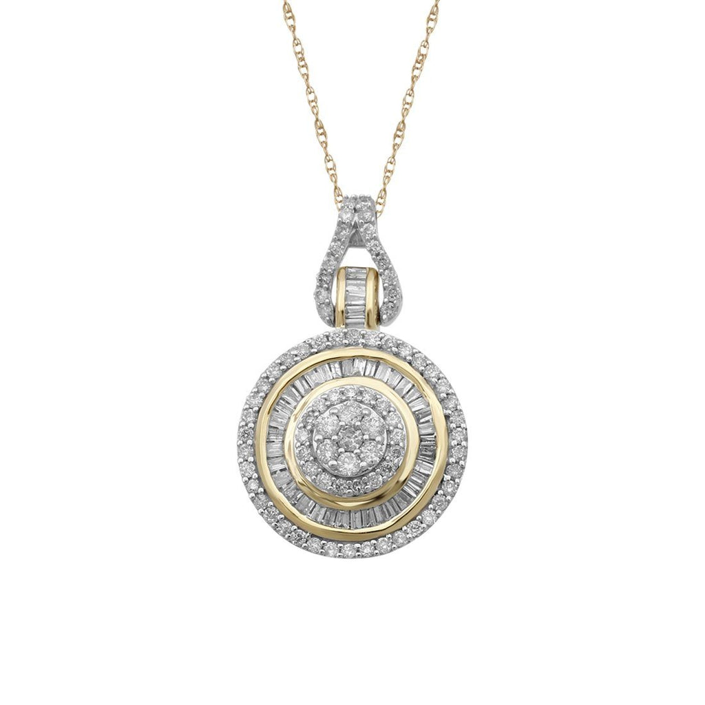 9ct Yellow Gold 0.75ct Diamond Pendant