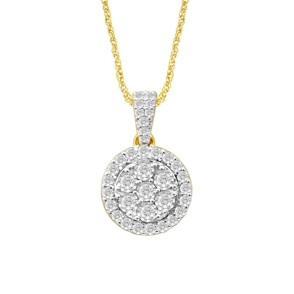 9ct Yellow Gold 1.00ct Brilliant Diamond Necklace